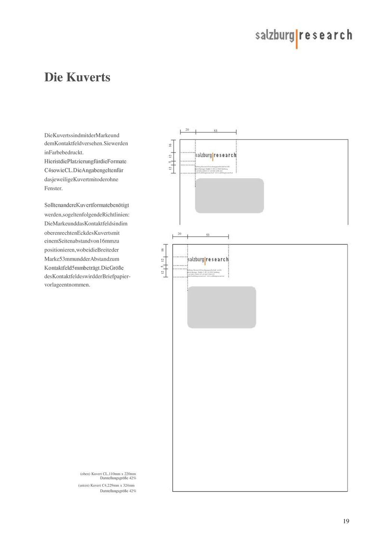Die Kuverts 53 53 (oben) Kuvert CL,110mm x 220mm Darstellungsgröße 42%