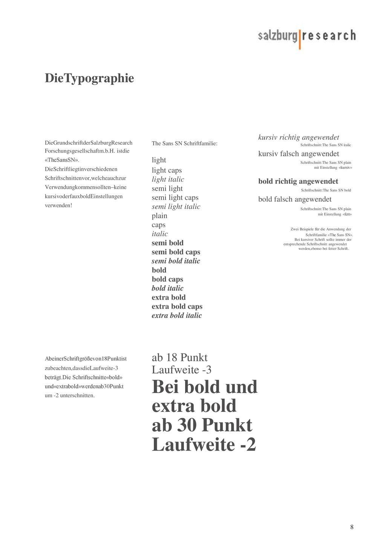 Bei bold und ab 30 Punkt Laufweite -2 DieTypographie