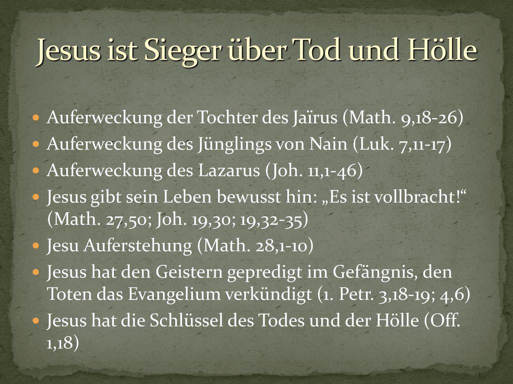 Jesus ist Sieger über Tod und Hölle