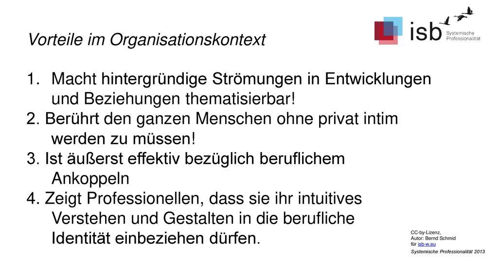 Vorteile im Organisationskontext