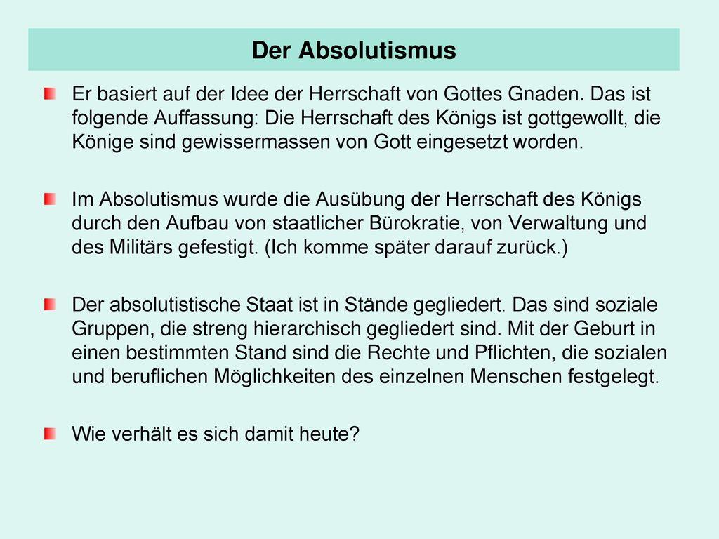 Der Absolutismus