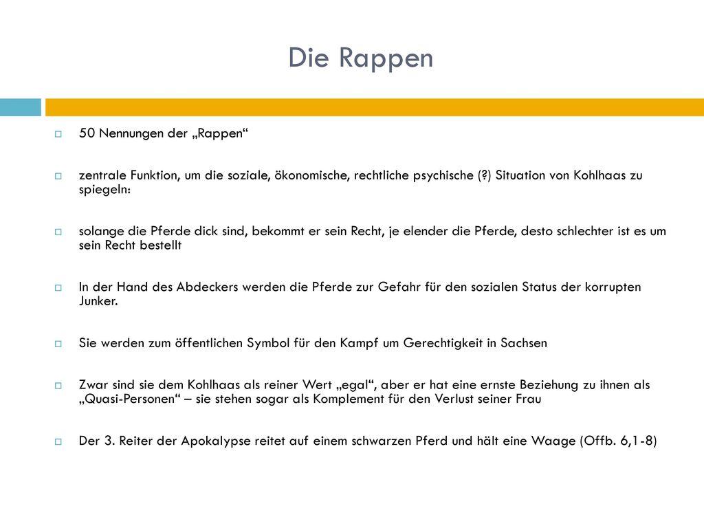 """Die Rappen 50 Nennungen der """"Rappen"""