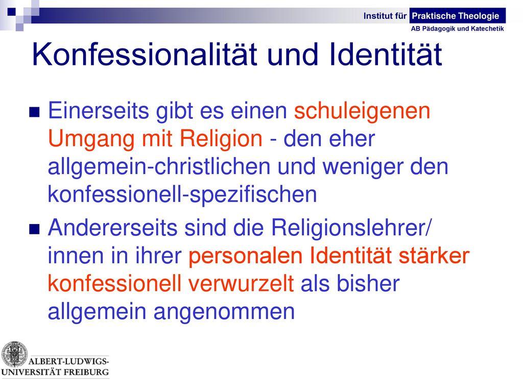 Konfessionalität und Identität