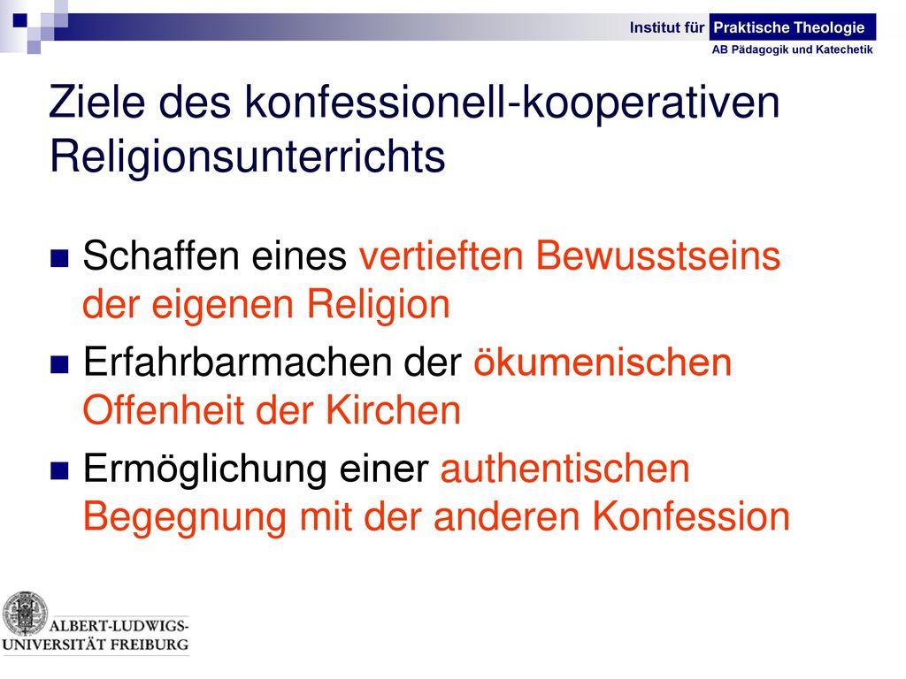 Ziele des konfessionell-kooperativen Religionsunterrichts