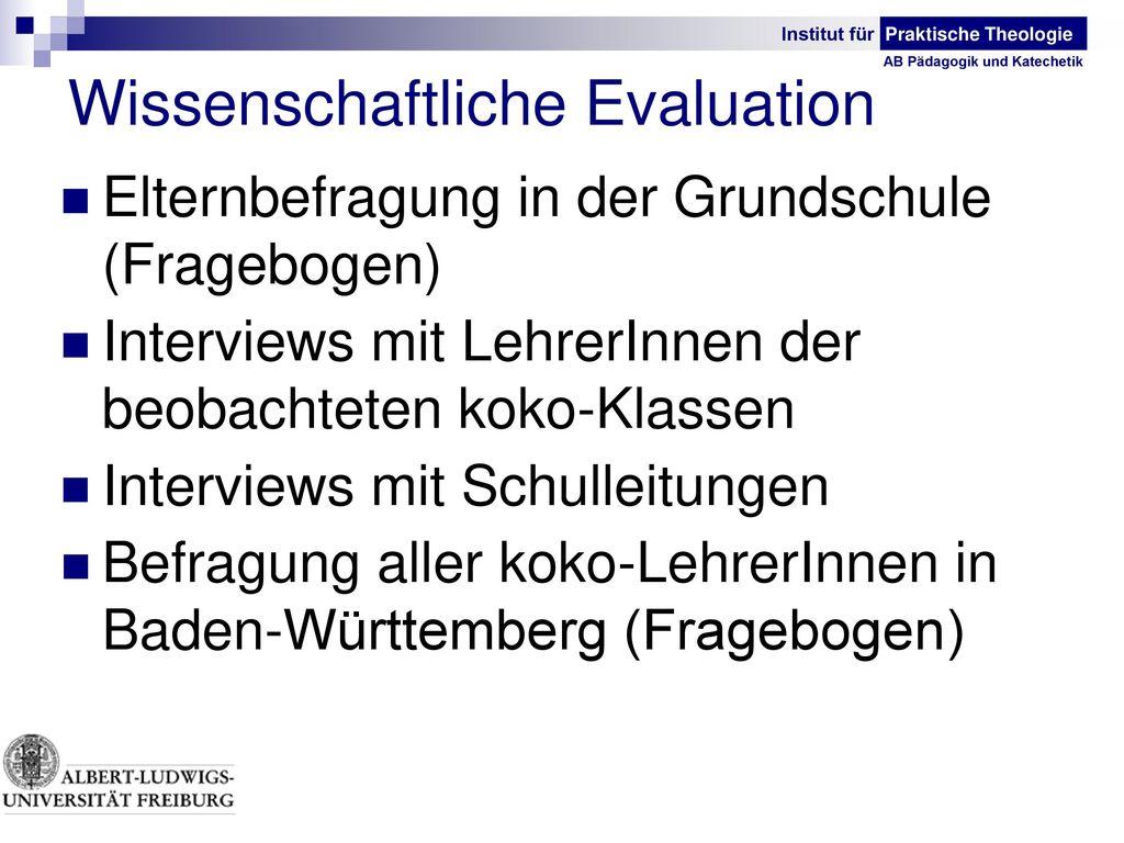 Wissenschaftliche Evaluation