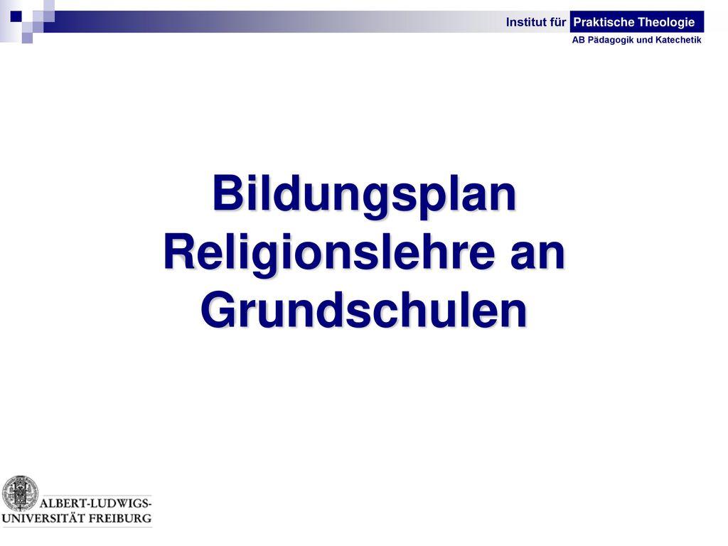 Bildungsplan Religionslehre an Grundschulen