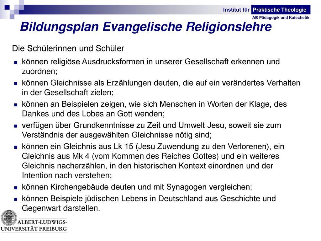 Bildungsplan Evangelische Religionslehre
