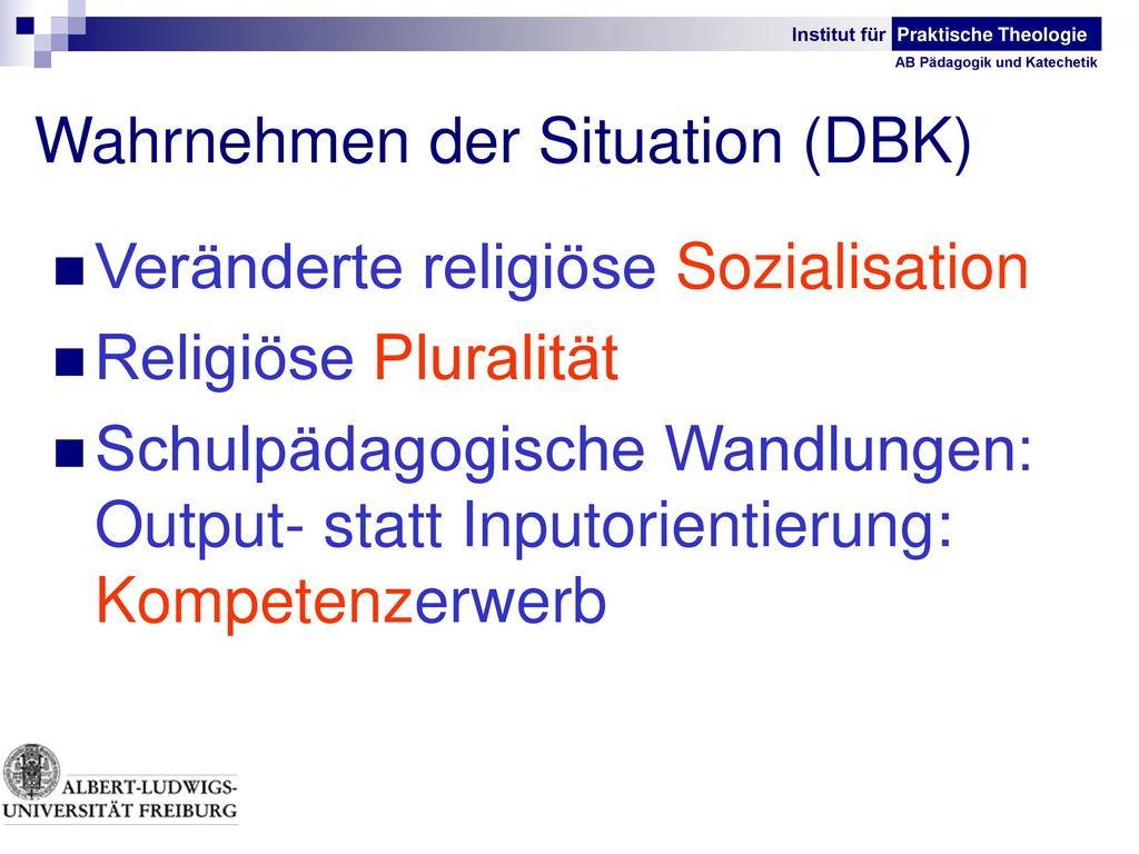 Wahrnehmen der Situation (DBK)