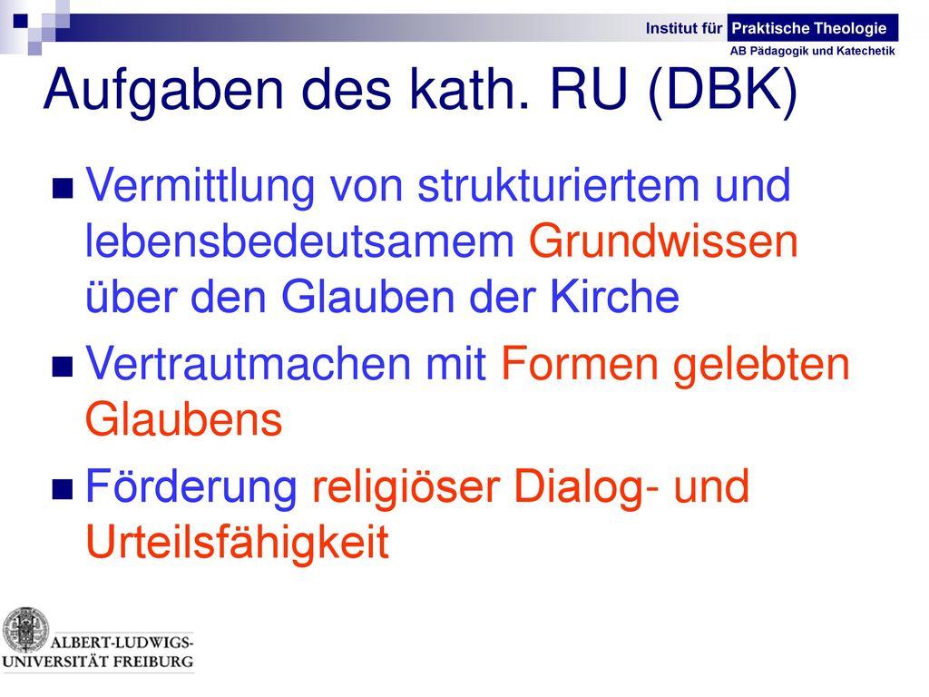 Aufgaben des kath. RU (DBK)