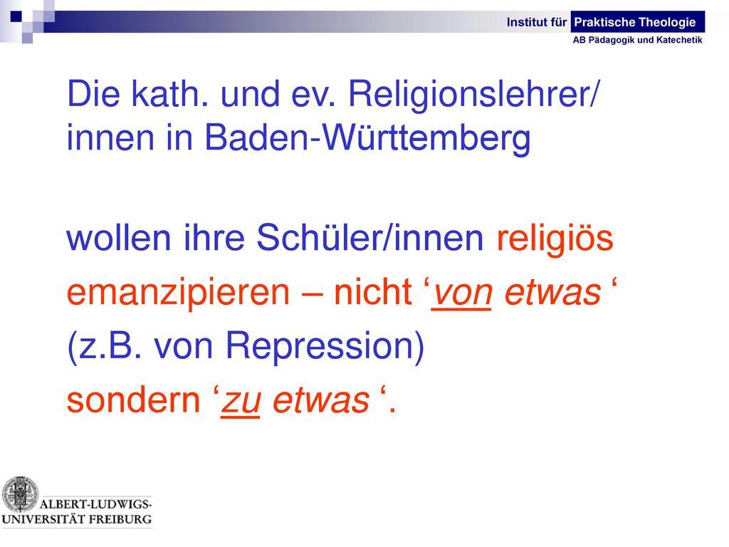 emanzipieren – nicht 'von etwas ' (z.B. von Repression)