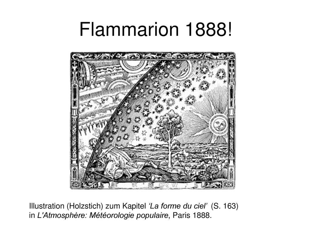 Flammarion 1888. Illustration (Holzstich) zum Kapitel 'La forme du ciel' (S.