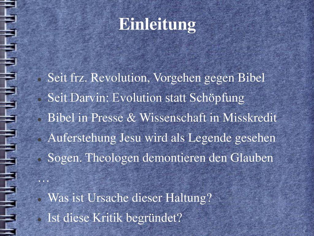 Einleitung Seit frz. Revolution, Vorgehen gegen Bibel