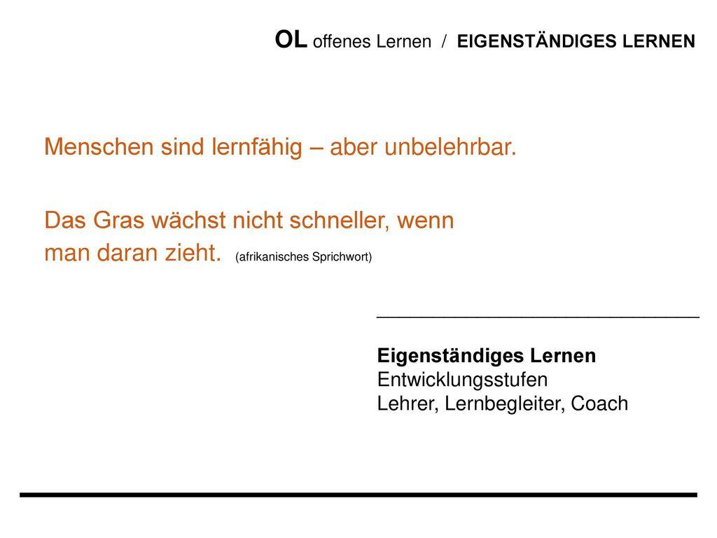 OL offenes Lernen / EIGENSTÄNDIGES LERNEN