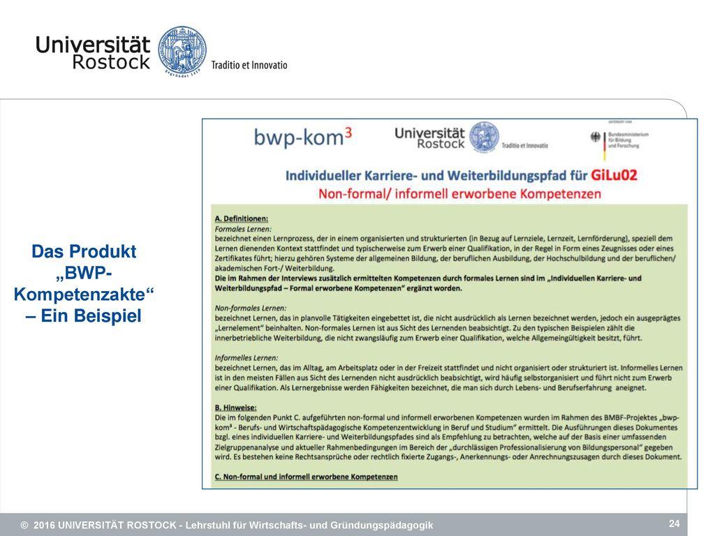 """Das Produkt """"BWP-Kompetenzakte – Ein Beispiel"""