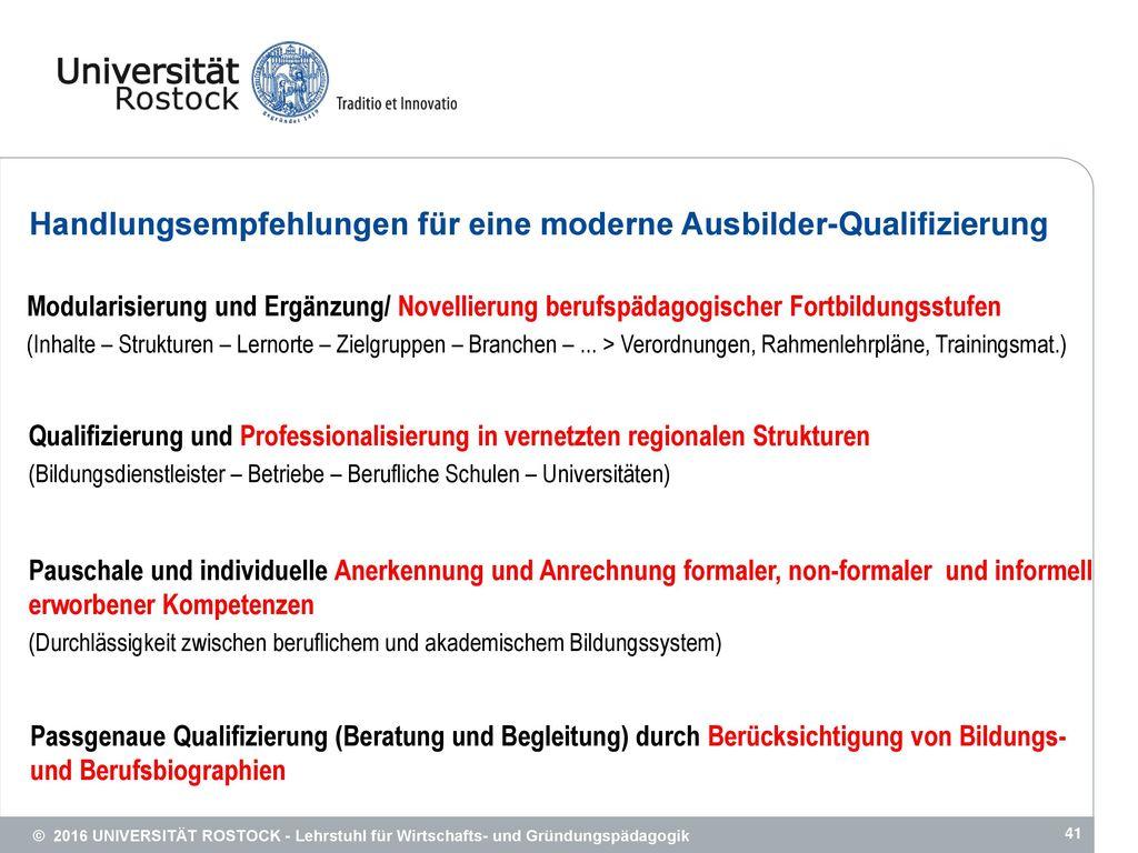 Handlungsempfehlungen für eine moderne Ausbilder-Qualifizierung