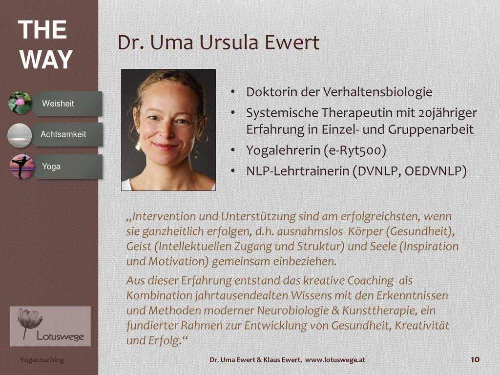 Dr. Uma Ursula Ewert Doktorin der Verhaltensbiologie
