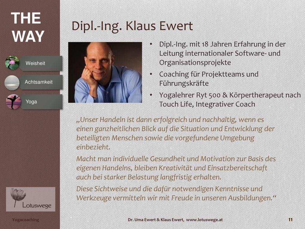 Dipl.-Ing. Klaus Ewert Dipl.-Ing. mit 18 Jahren Erfahrung in der Leitung internationaler Software- und Organisationsprojekte.