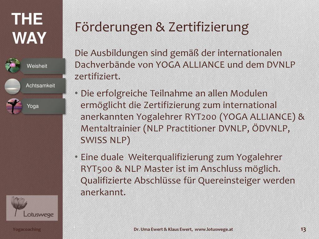 Förderungen & Zertifizierung