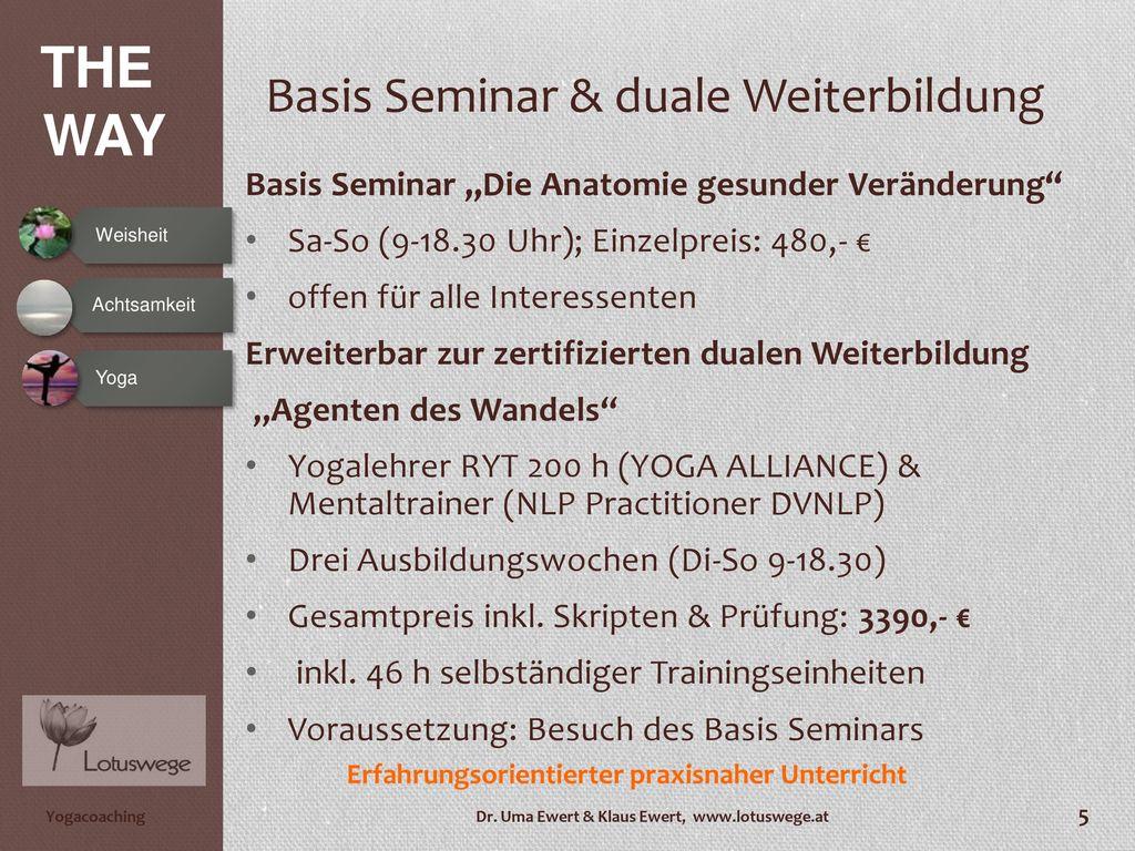 Basis Seminar & duale Weiterbildung