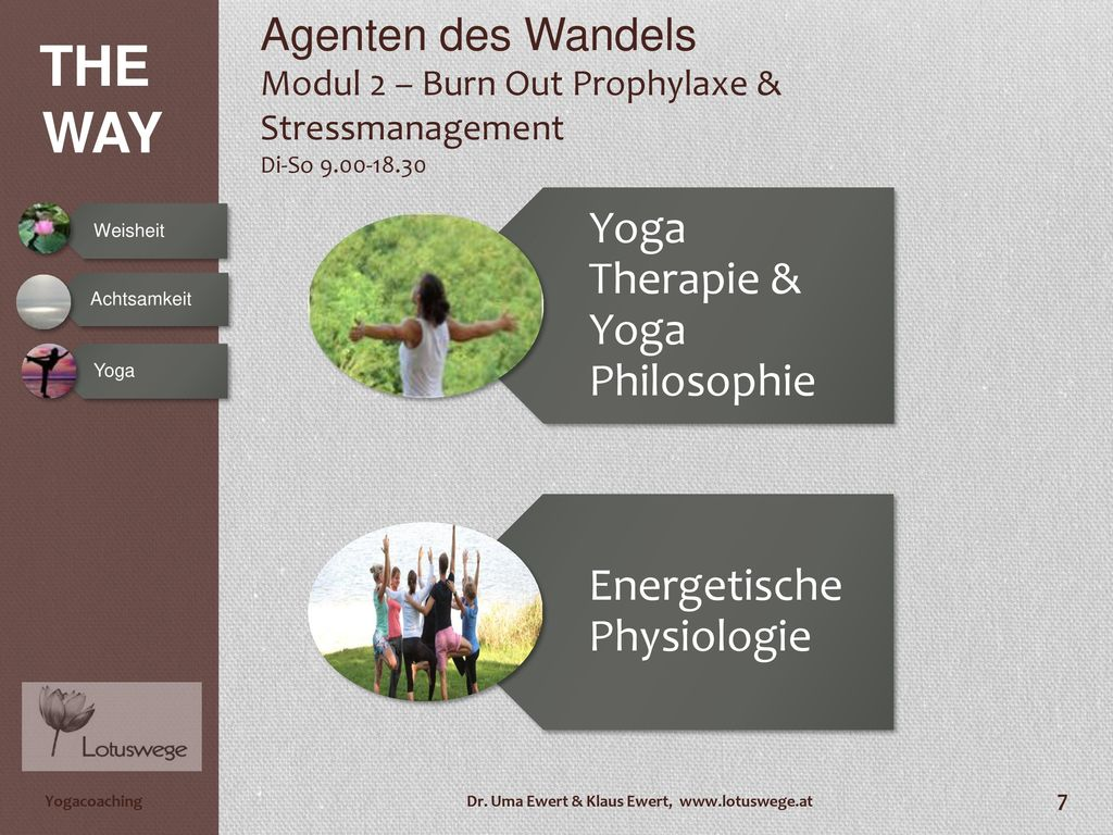 Yoga Therapie & Yoga Philosophie
