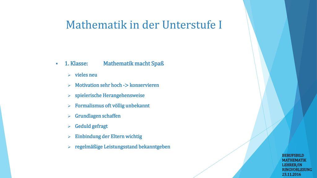 Mathematik in der Unterstufe I