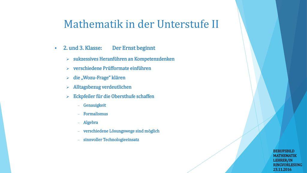 Mathematik in der Unterstufe II
