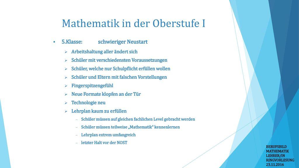 Mathematik in der Oberstufe I