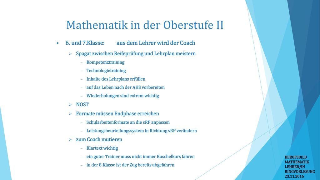 Mathematik in der Oberstufe II