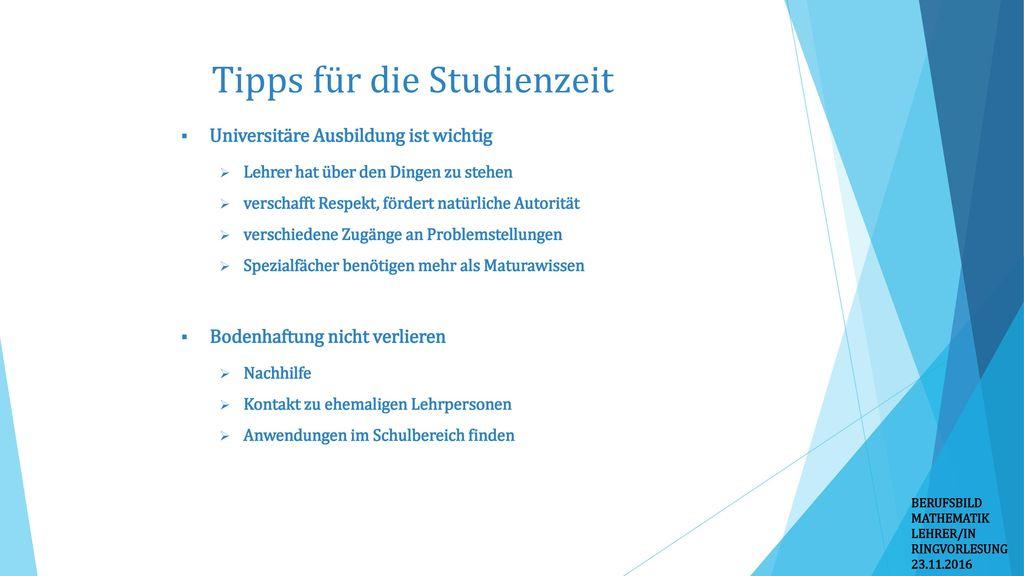 Tipps für die Studienzeit