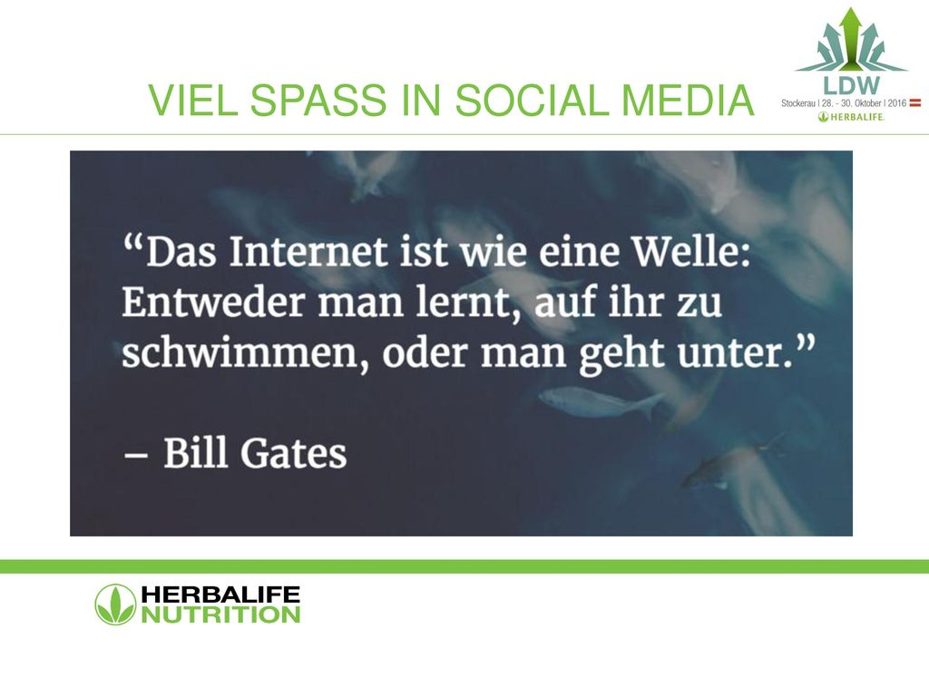 Viel spass in social media