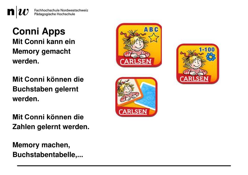 Conni Apps Mit Conni kann ein Memory gemacht werden.