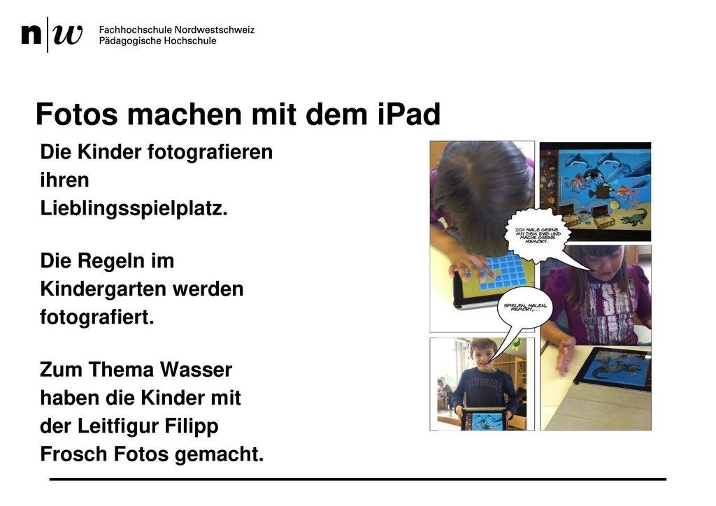 Fotos machen mit dem iPad
