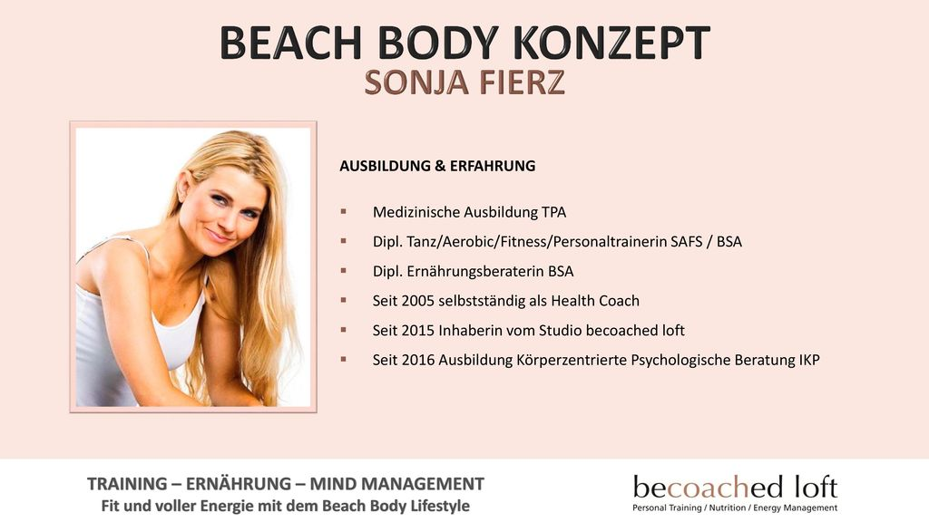 BEACH BODY KONZEPT SONJA FIERZ