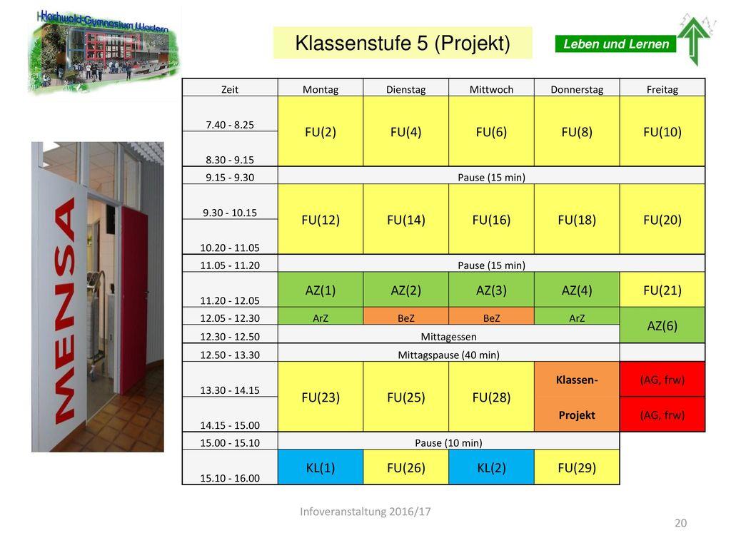 Klassenstufe 5 (Projekt)
