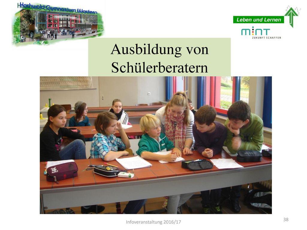 Ausbildung von Schülerberatern