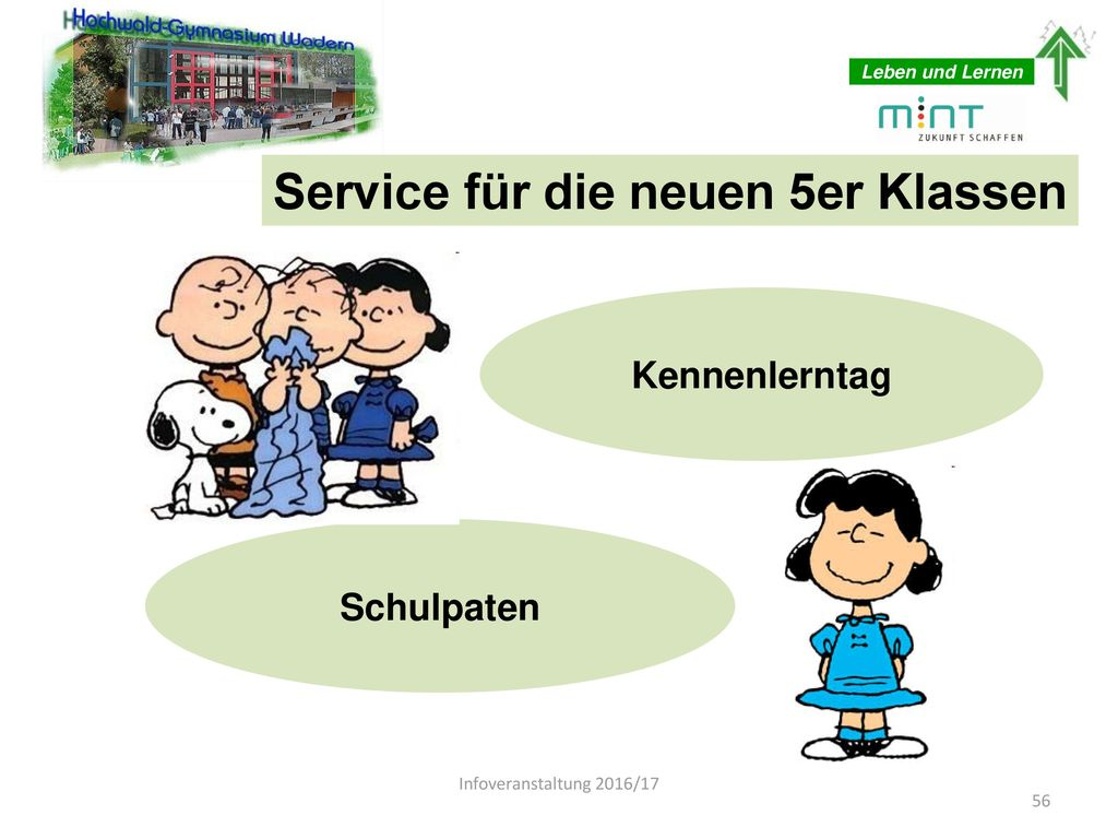 Service für die neuen 5er Klassen
