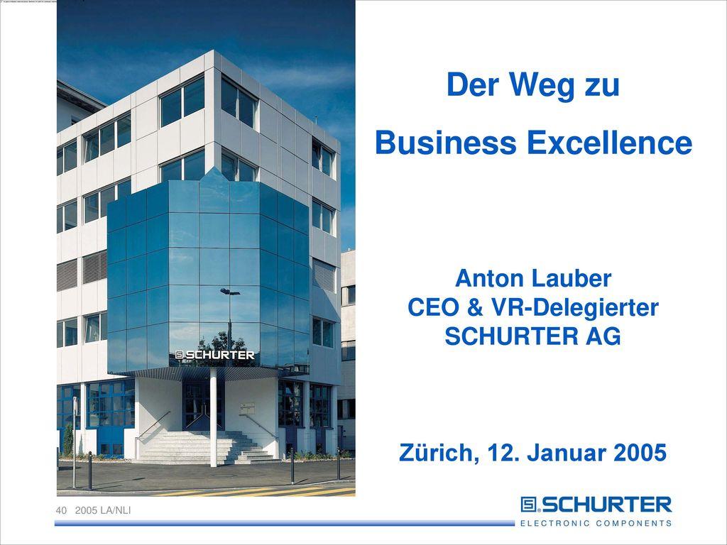 Anton Lauber CEO & VR-Delegierter SCHURTER AG Zürich, 12. Januar 2005