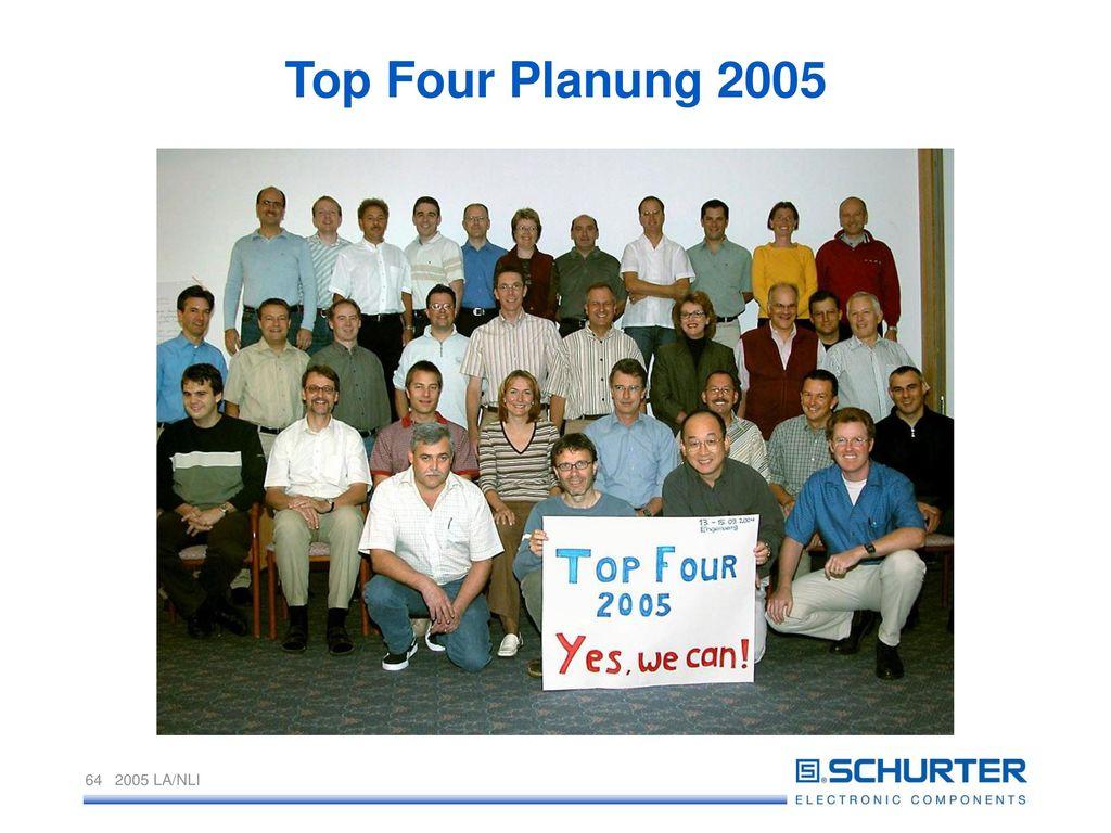 Top Four Planung 2005