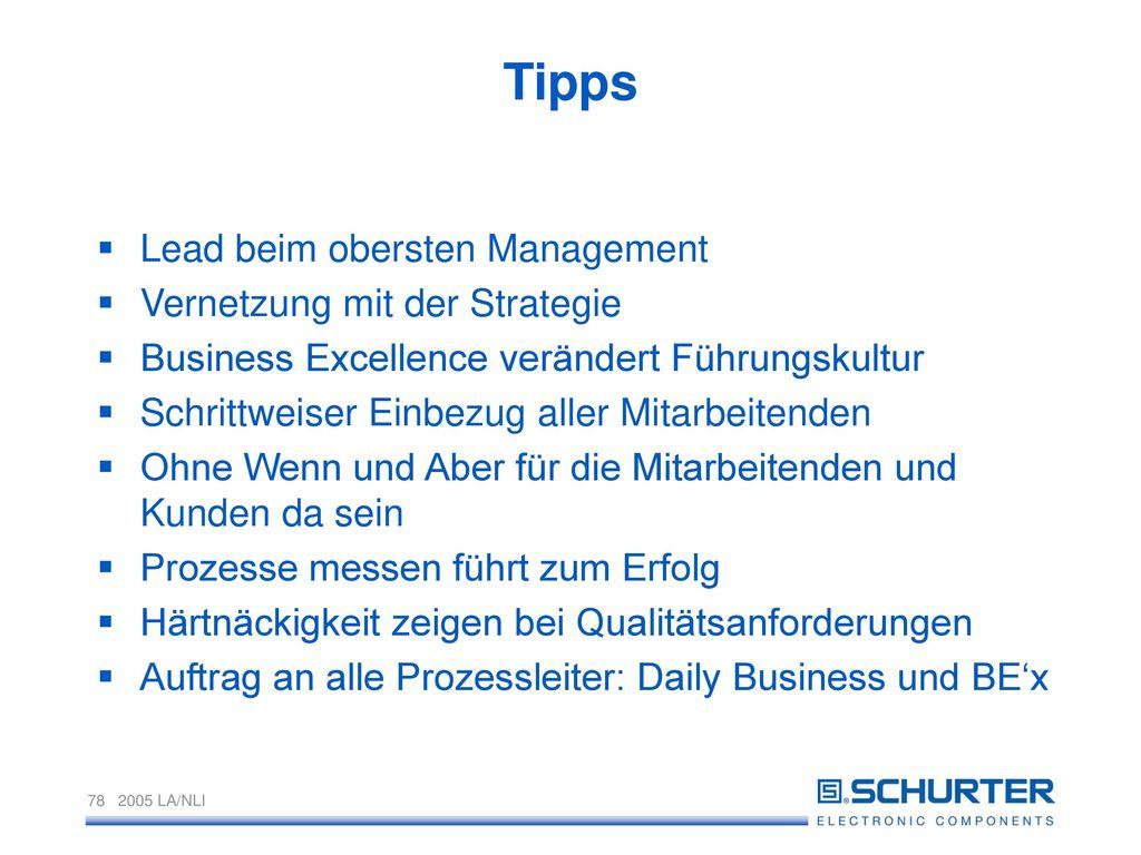 Tipps Lead beim obersten Management Vernetzung mit der Strategie