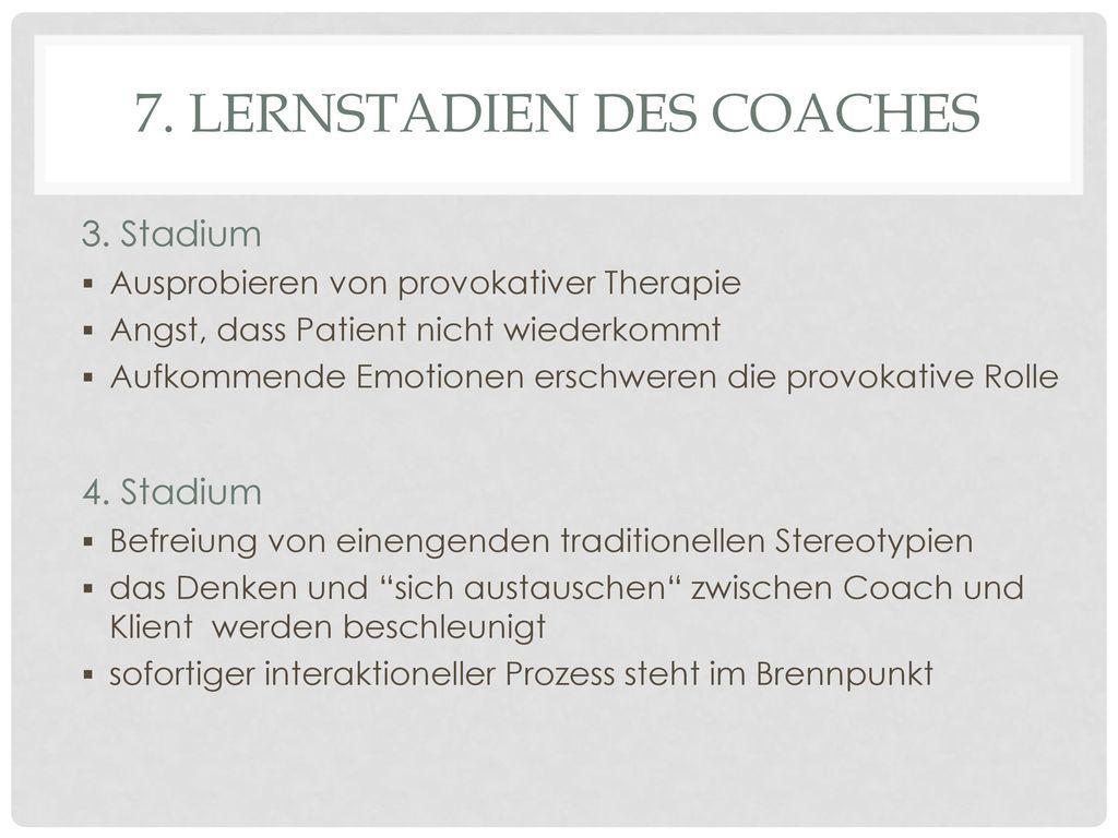 7. Lernstadien des Coaches