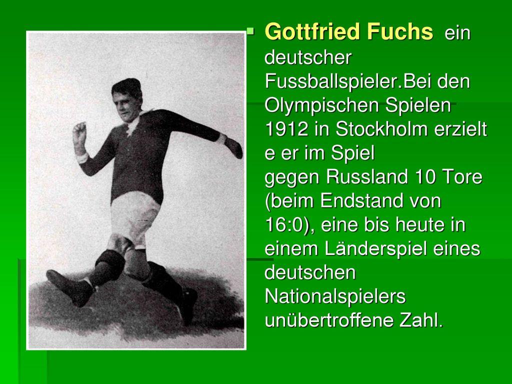 Gottfried Fuchs ein deutscher Fussballspieler