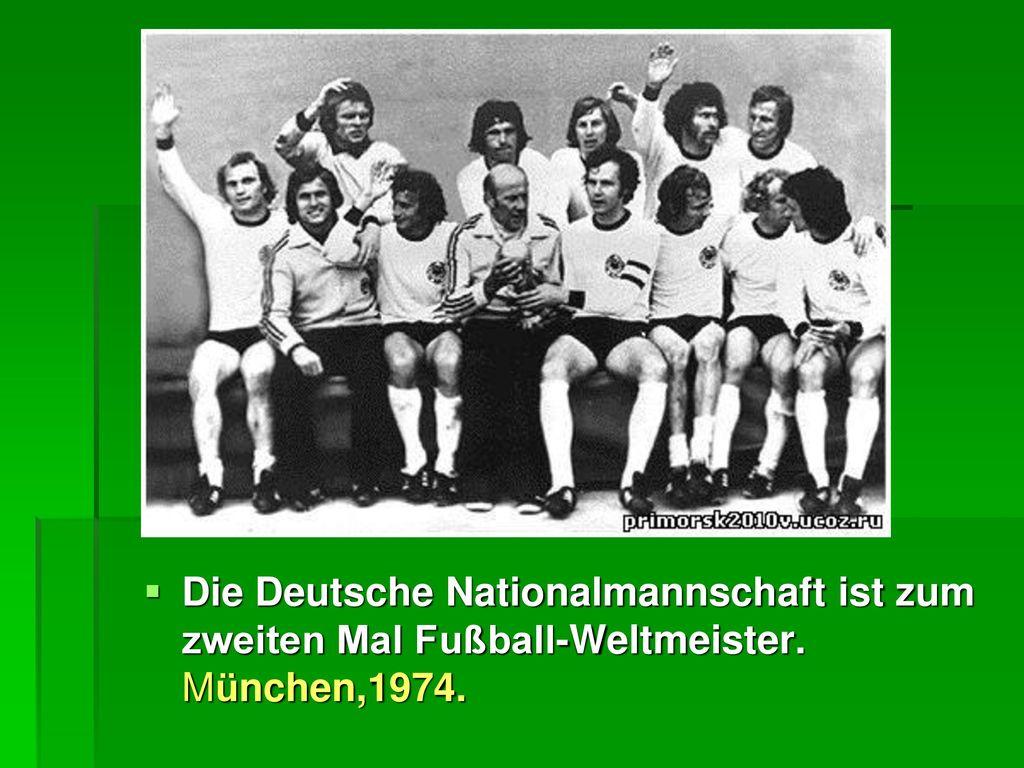Die Deutsche Nationalmannschaft ist zum zweiten Mal Fußball-Weltmeister. München,1974.
