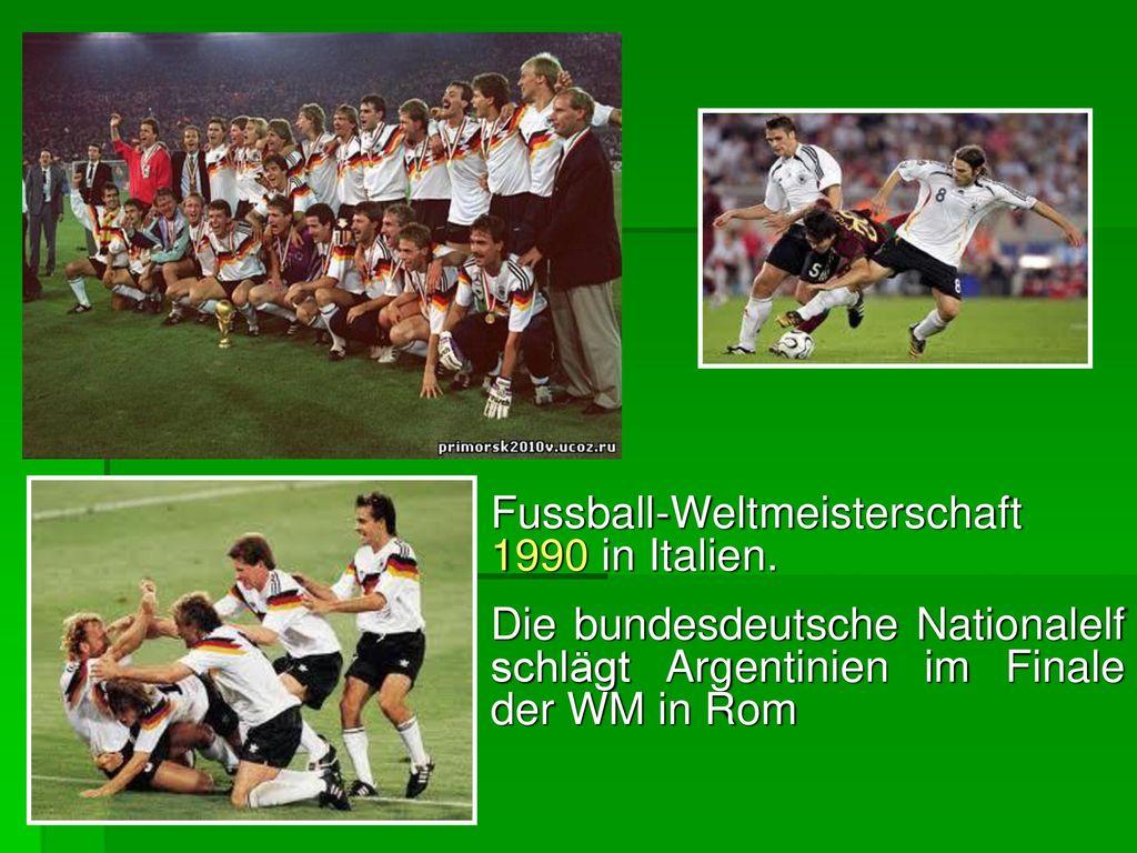 Fussball-Weltmeisterschaft 1990 in Italien.