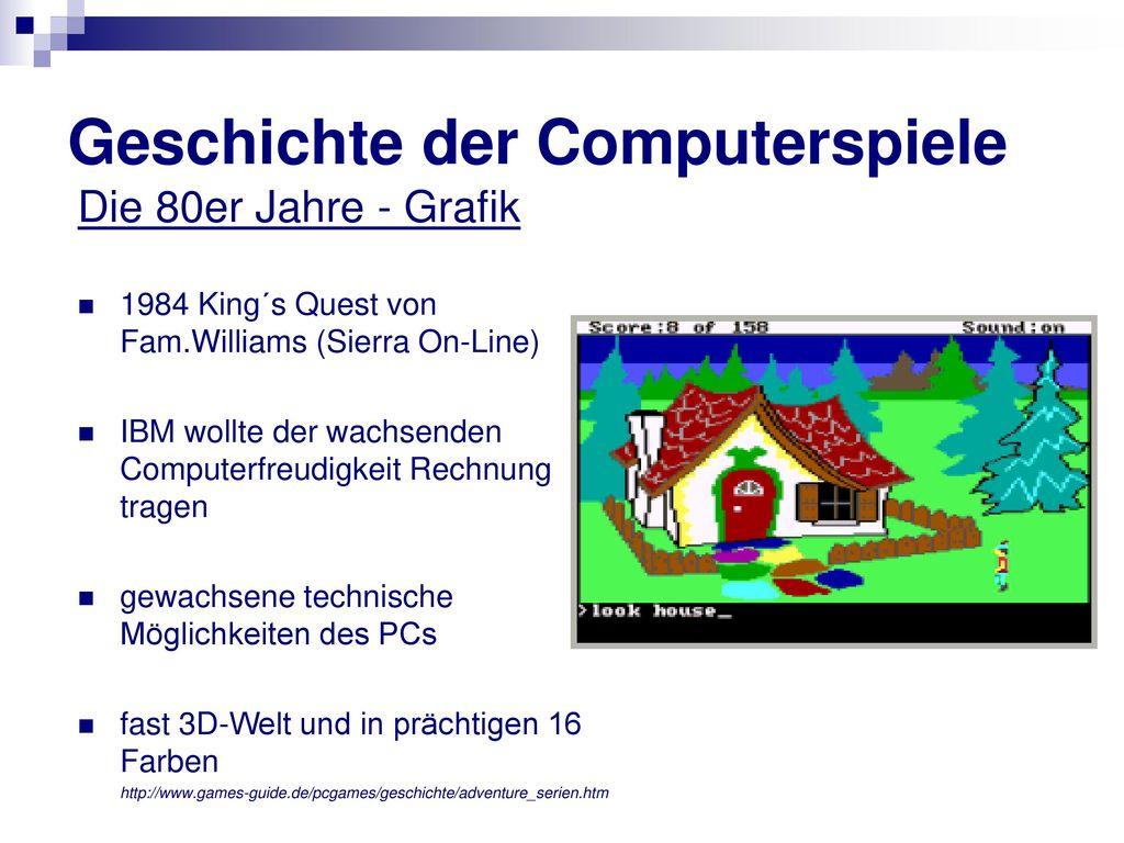 Geschichte der Computerspiele