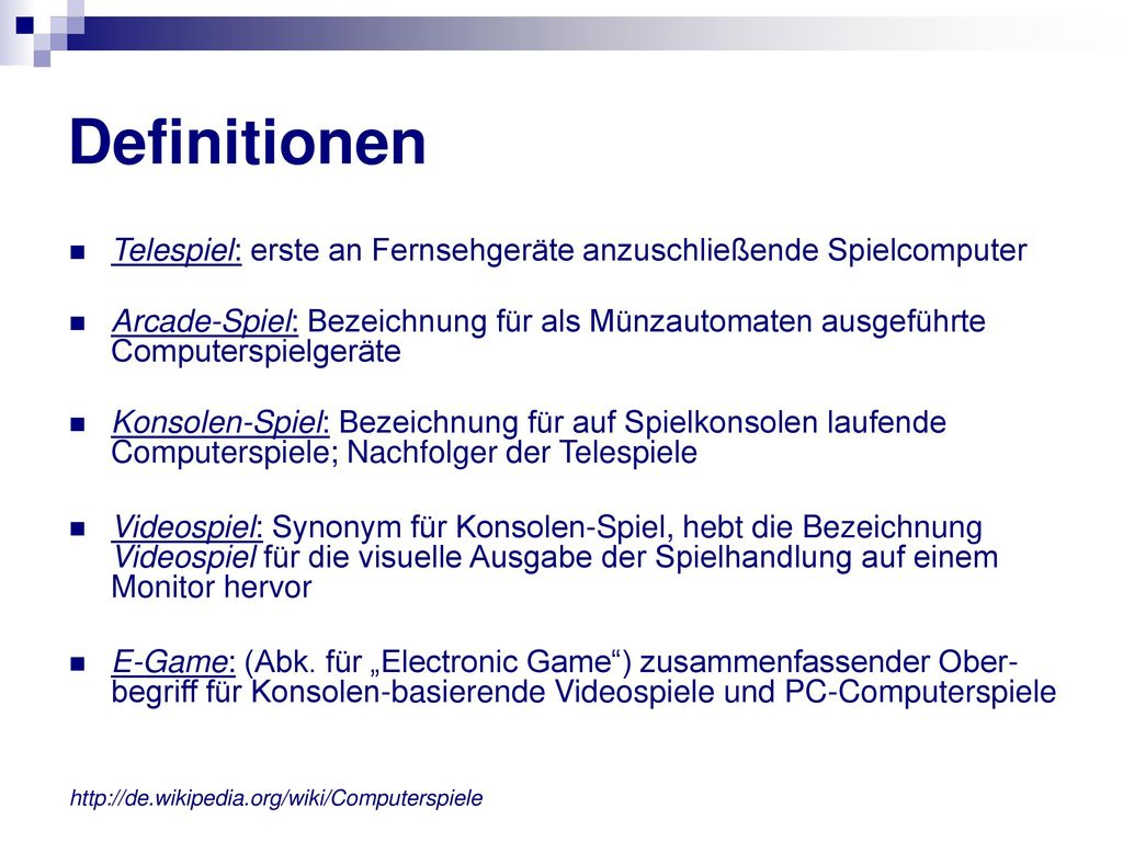 Definitionen Telespiel: erste an Fernsehgeräte anzuschließende Spielcomputer.