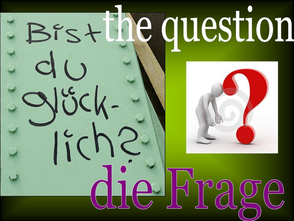 the question die Frage