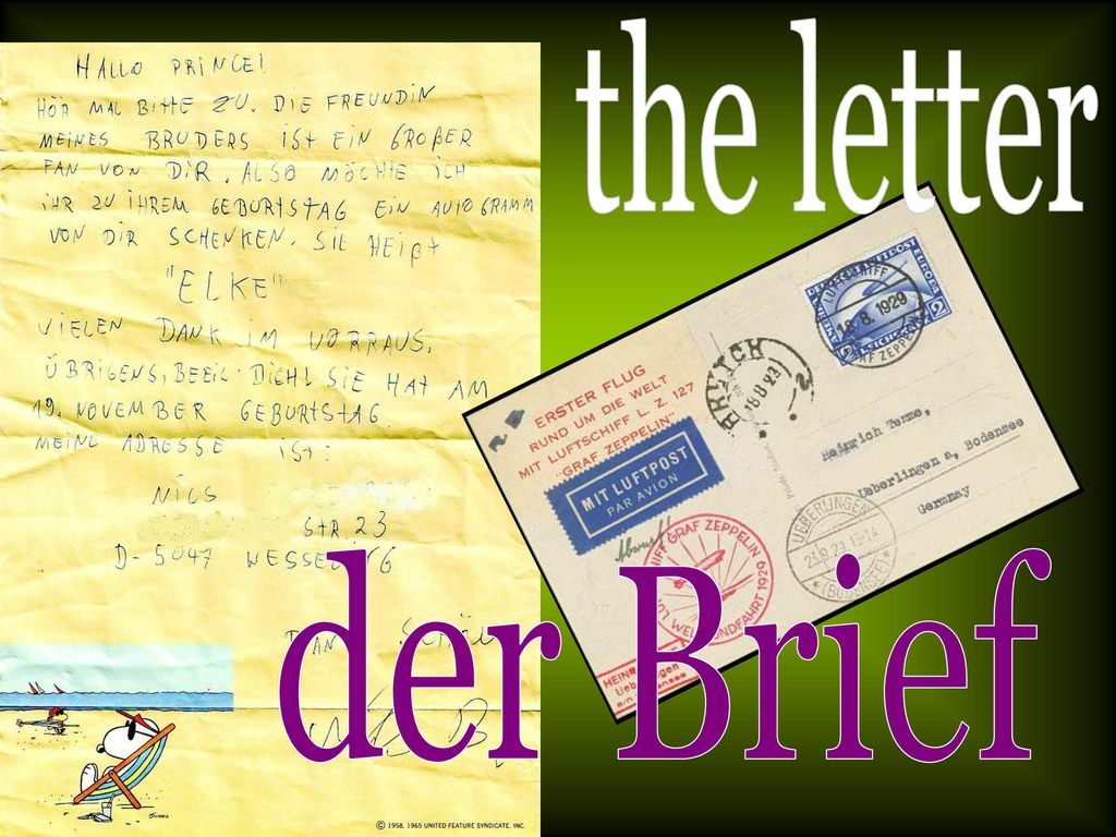 the letter der Brief