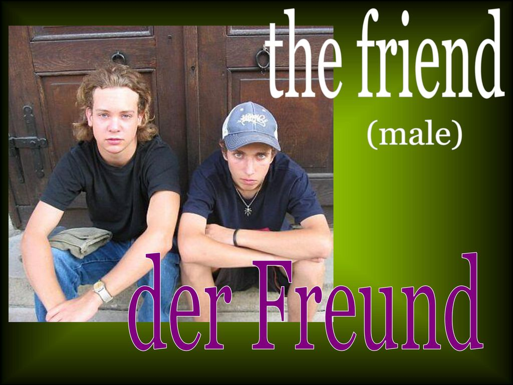 the friend (male) der Freund