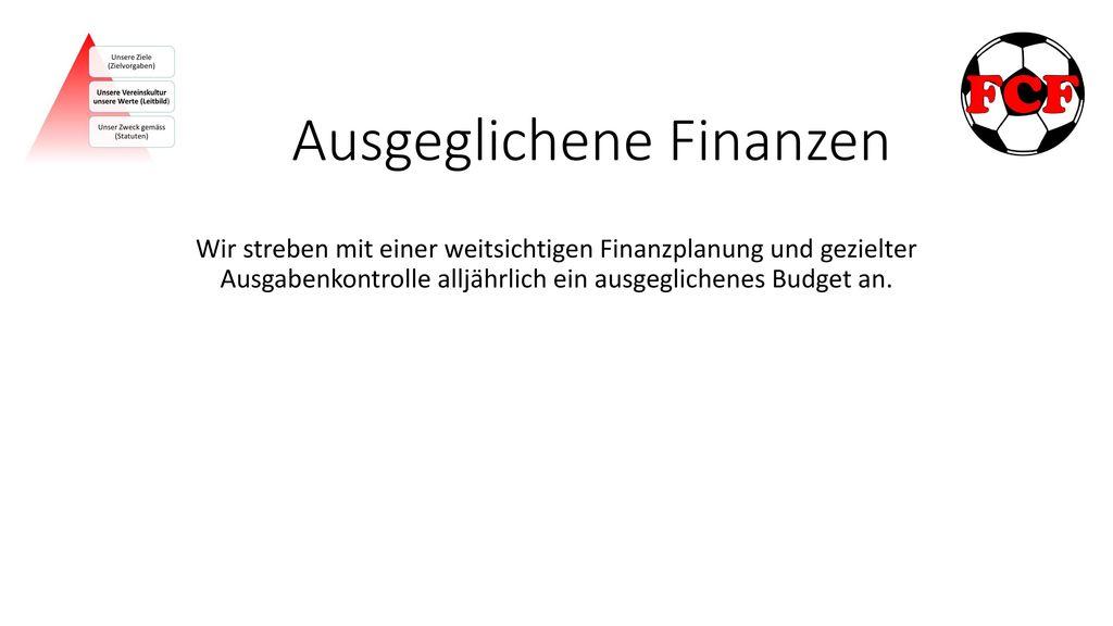 Ausgeglichene Finanzen