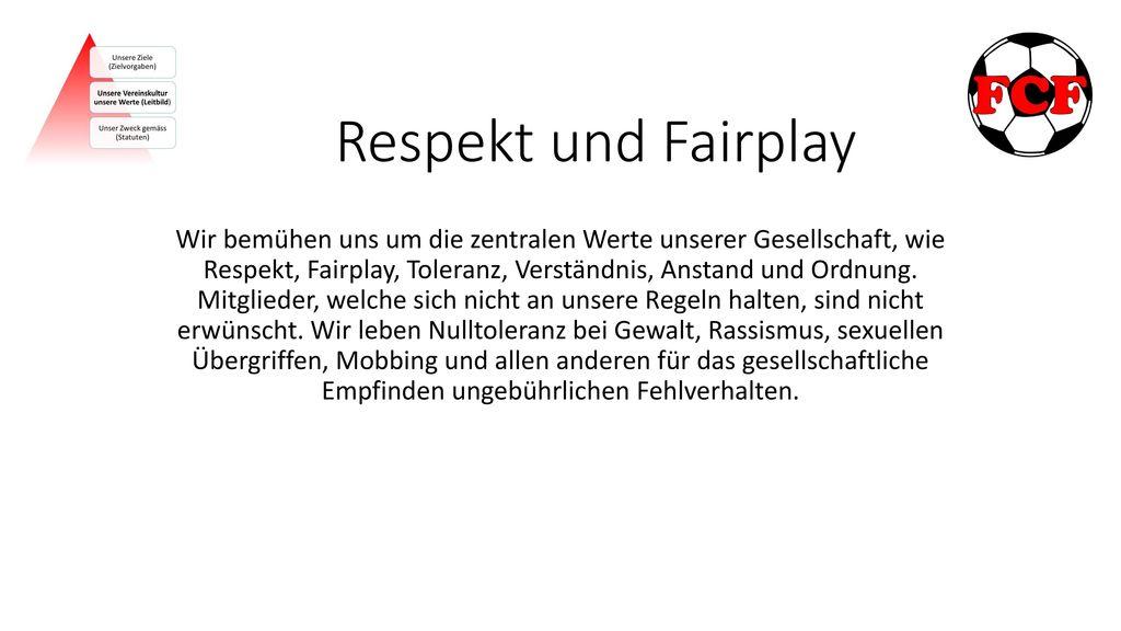 Respekt und Fairplay